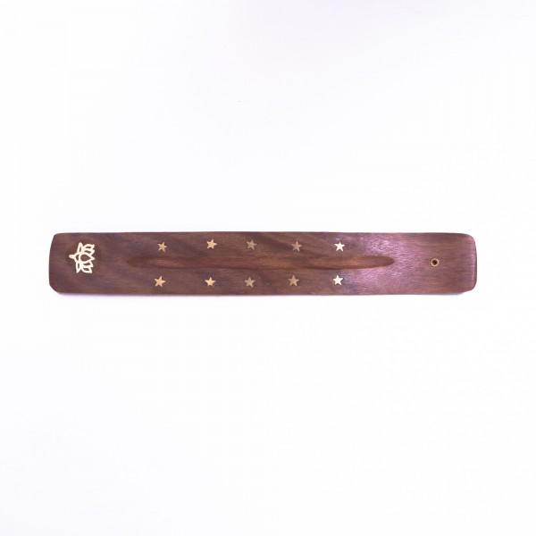 Räucherstäbchenhalter, braun, L 25 cm, B 4 cm