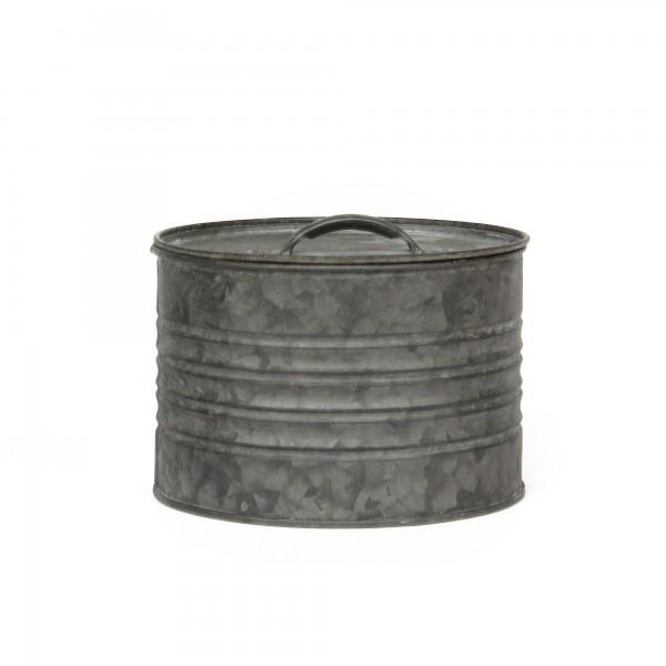runde Deckeldose S, grau, Ø 14 cm, H 10 cm