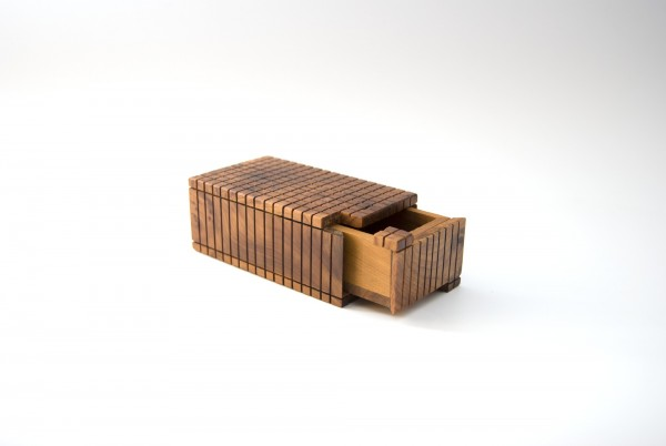 Thuja 'Secret-Box', braun, T 11 cm, B 6,5 cm, H 4,5 cm