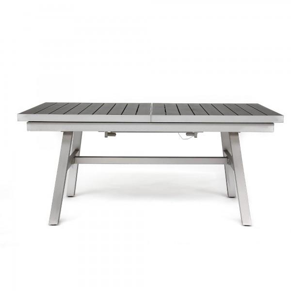 Gartentisch ausziehbar, aluminium, grau, T 90 cm, B 176/235 cm, H 78 cm