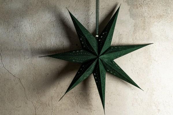 Papierlampe 'Uranos', grün, Ø 75 cm, H 17 cm