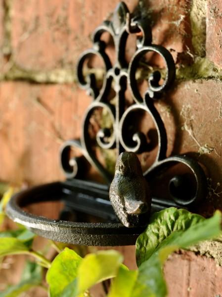 Wand-Vogeltränke, braun, T 10 cm, B 18 cm, H 17,5 cm