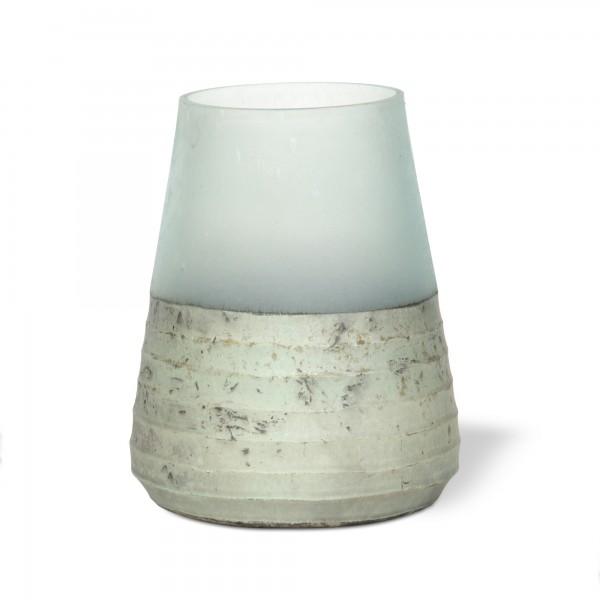 Windlicht 'Ocean', silber, Ø 13 cm, H 15 cm