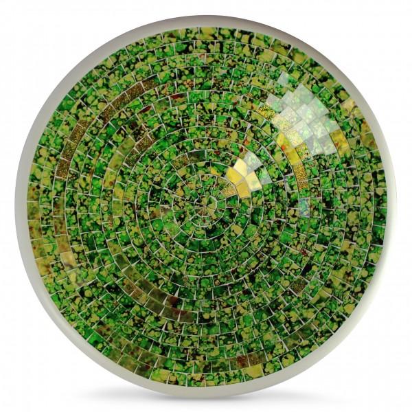 """Glasmosaikschüssel """"Brazil"""", grün/gelb, H 8 cm, Ø 38 cm"""
