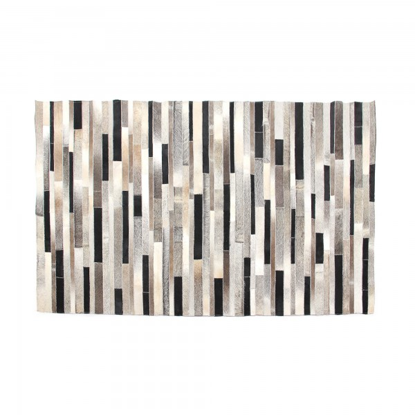 Teppich 'Lloyd', schwarz, weiß, grau, T 140 cm, B 200 cm
