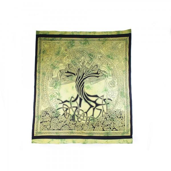 """Tagesdecke """"Baumkreis"""", aus 100% Baumwolle, grün, L 250 cm, B 220 cm"""
