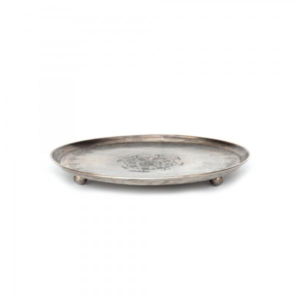 runde Ablage, aus Metall, Ø 18 cm, H 2 cm