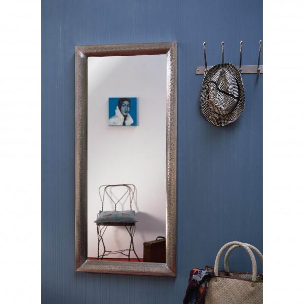 """Spiegel """"floral"""" mit Metallrahmen, silber, B 54 cm, H 120 cm"""