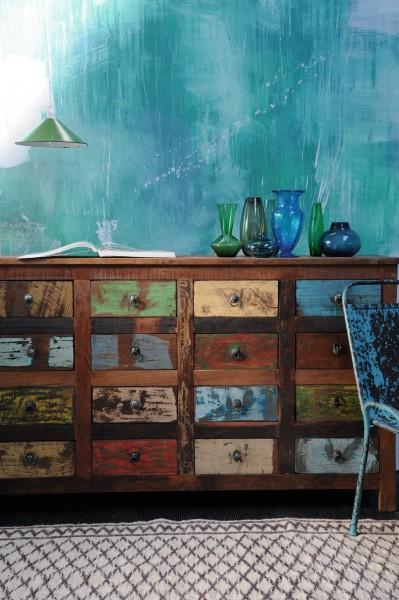 """Schubladenanrichte """"Jarrow"""", multicolor, L 42 cm, B 154 cm, H 90 cm"""