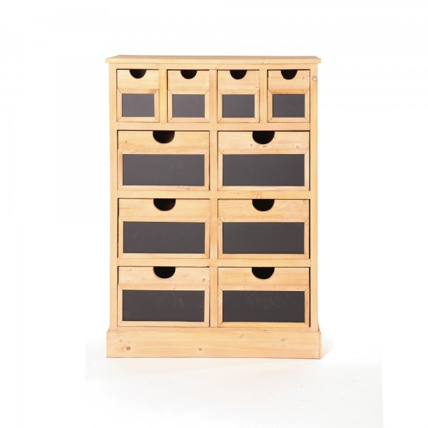 """Schubladenschrank """"Joris"""", mit 10 Schubladen, braun/schwarz, T 35 cm, B 77 cm, H 108 cm"""
