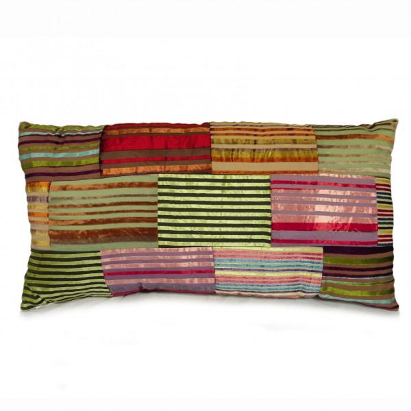 """Kissen """"Velvet Streifen"""", multicolor, B 70 cm, H 35 cm"""