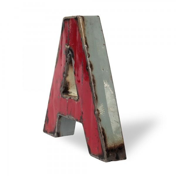 Metallbuchstabe 'A', multicolor, T 19 cm, B 20 cm, H 4 cm