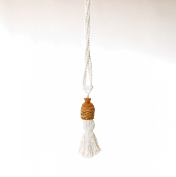 Troddel Rattan, weiß, L 53 cm