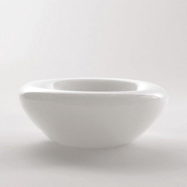 Schale, weiß, H 7,5 cm, Ø 19 cm