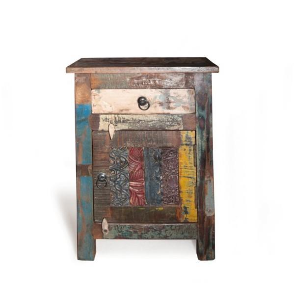 """Schränkchen """"Dundee"""", aus recyceltem Holz, multicolor, L 36 cm, B 46 cm, H 60 cm"""