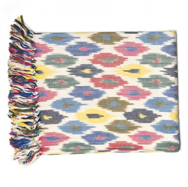 """Decke """"Ikkat"""", multicolor, L 125 cm, B 150 cm"""