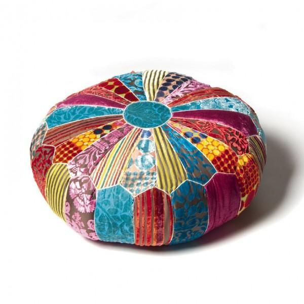 Sitzkissen rund, multicolor, Ø 60 cm, H 20 cm