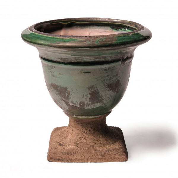 """Pflanztopf """"Foix L"""" aus Keramik klein, grün, Ø 15 cm, H 15 cm"""