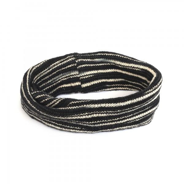 Stirnband, schwarz, weiß, Ø 20 cm, H 20 cm