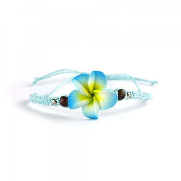 Armband 'Lotus', türkis, Ø 12 cm, H 5 cm