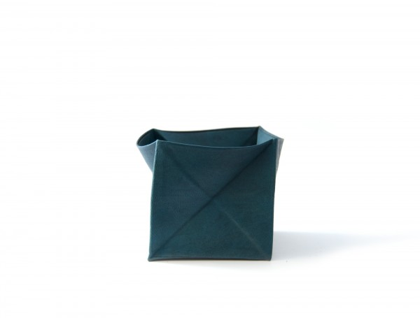 Münzbörse, blau, T 7 cm, B 7 cm, H 7 cm