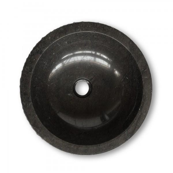 Marmorwaschbecken, natur, schwarz, Ø 40 cm, H 15 cm