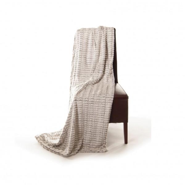 """Decke """"Maschen"""", weiß, L 200 cm, B 150 cm"""