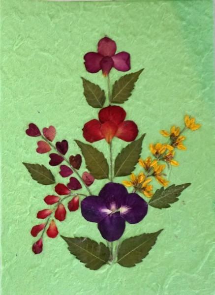 Grußkarte 'Blume', grün, T 17,5 cm, B 12 cm
