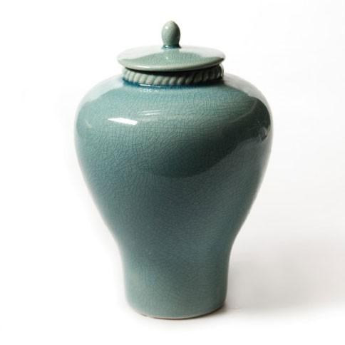 """Deckelgefäß """"Vase Han"""", Ø 15 cm, H 23 cm"""