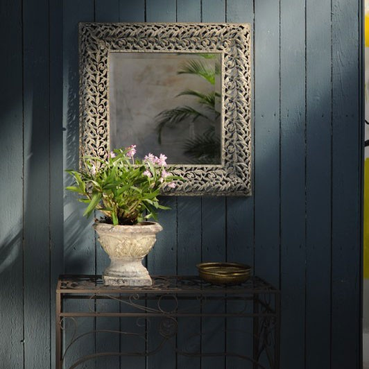 Spiegel rechteckig, grau, B 60 cm, H 60 cm