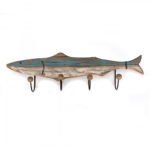 4er Haken 'Fisch', natur, T 10 cm, B 75 cm, H 23 cm