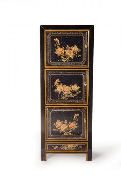 Schrank, 3 Türen, 1 Schublade, schwarz, L 60 cm, B 40 cm, H 170 cm