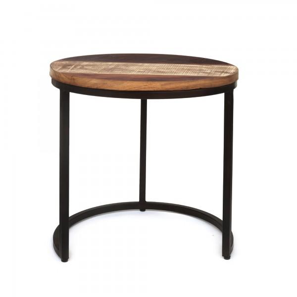 Tisch 'Halira' L, schwarz, Ø 50 cm, H 48 cm