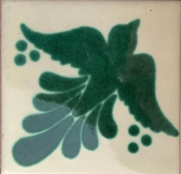 Kachel 'Paloma', grün, T 10 cm, B 10 cm, H 0,5 cm
