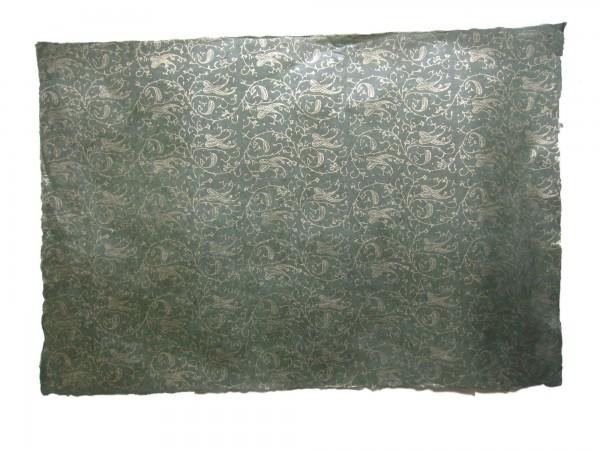 Geschenkpapier Goldranke, grün, T 50 cm, B 75 cm