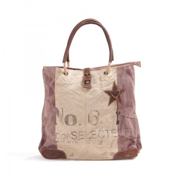 "Tasche ""Red of Selected"", beige/braun, B 40 cm, H 40 cm"