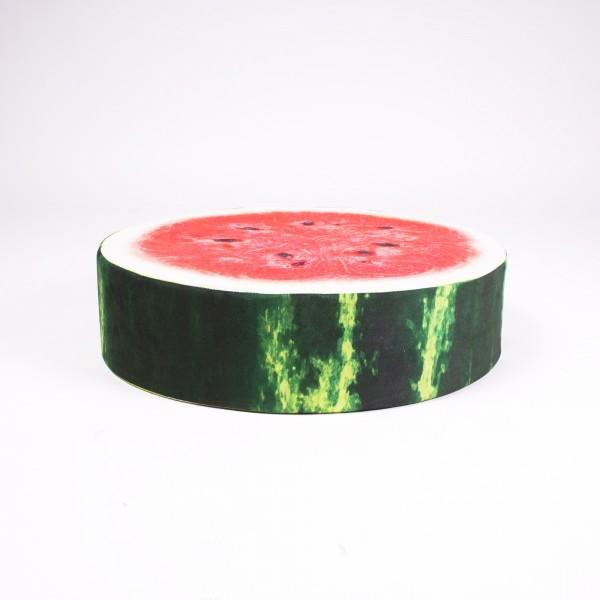 "Sitzkissen ""Melone"", rot/grün, Ø 50 cm, H 12,5 cm"