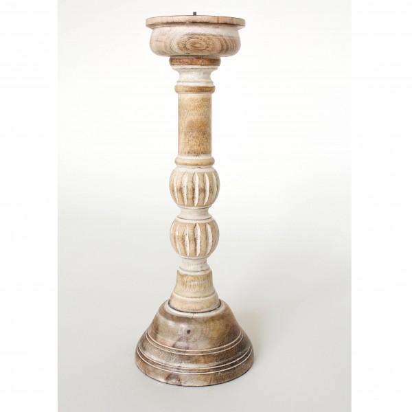 Kerzenständer, antik-weiß, H 38 cm, Ø 13 cm