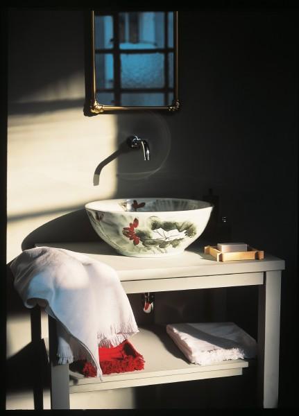 Keramikwaschbecken 'Lotus', H 15 cm, Ø 40 cm