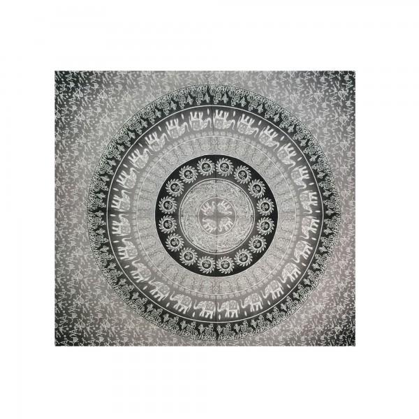 """Tagesdecke """"Silver Mask"""", aus 100% Baumwolle, schwarz/grau, L 210 cm, B 245 cm"""