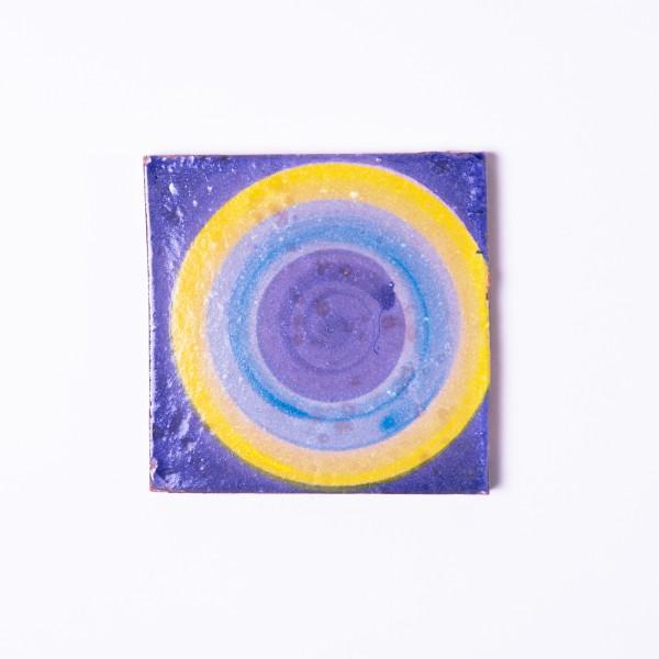 Handglasierte Kachel 'Rond', L 10 cm, B 10 cm