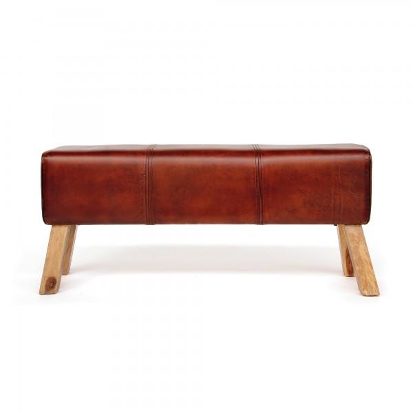 Sitzbank 'Harrison', cognac, natur, T 30 cm, B 120 cm, H 53 cm