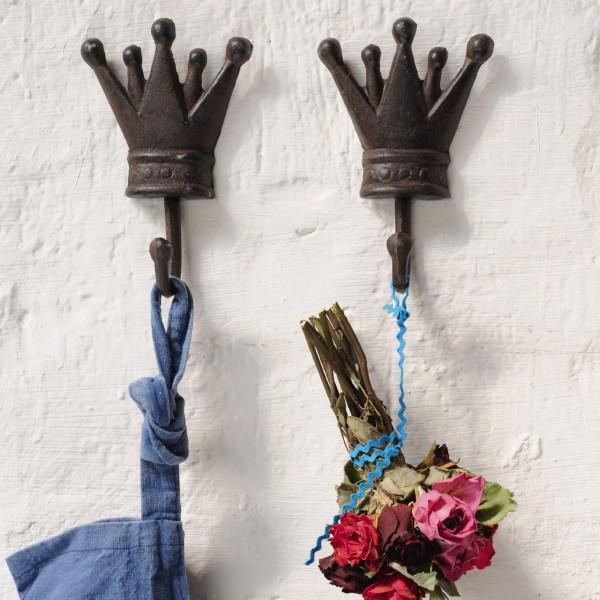 """Wandhaken """"Margot, antik-braun, H 16 cm"""