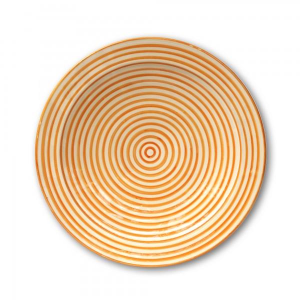 Zierschale, orange, Ø 40 cm, H 9 cm