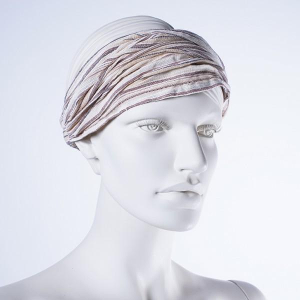 """Haarband """"Detroit"""", aus 100% Baumwolle, beige"""