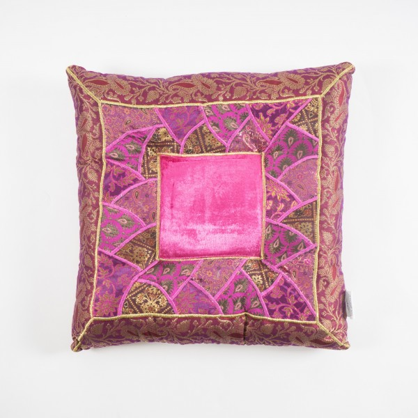 Sitzkissen, rosa/lila, L 40 cm, B 40 cm, H 5 cm