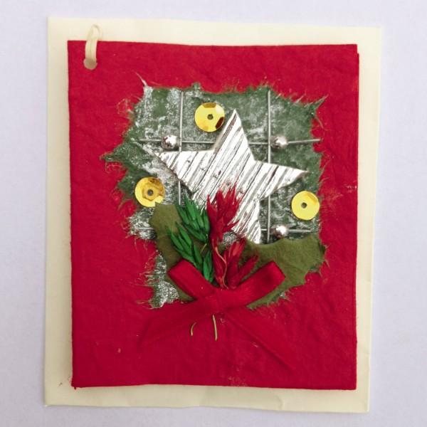 Geschenkkarte, rot, H 7,5 cm, B 6 cm