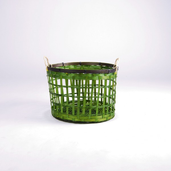 Bambuskorb S, grün, Ø 26 cm, H 17 cm