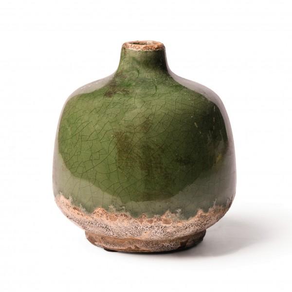 """Keramikvase """"Tulle S"""", grün, Ø 11 cm, H 12 cm"""