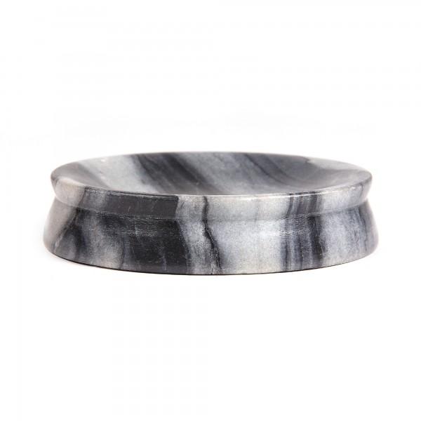 runde Marmorablage, schwarz, Ø 13 cm, H 3 cm